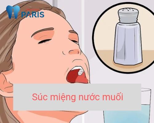 Nhổ răng có đau không? súc miệng nước muối lành vết thương